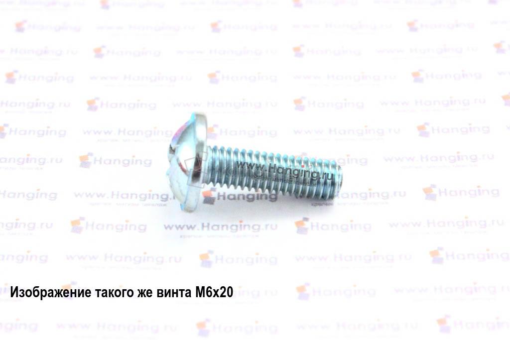 Оцинкованный винт DIN 967 М6х22 с полукруглой головкой с прессшайбой