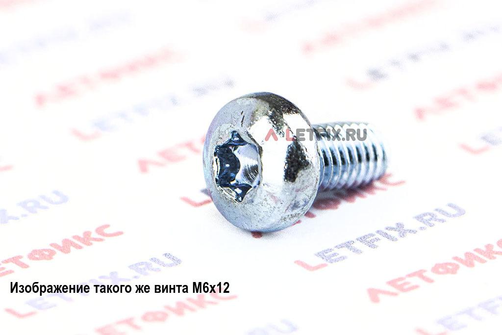 Винт самонарезающий DIN 7500 Form C-T (CE-T) М5х10 с полукруглой головкой со шлицем Torx (звездочка, Torx, T)