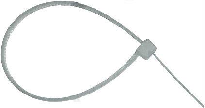 Стяжка кабельная 2,5х200, белая, нейлон, Fasty