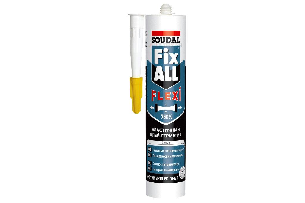 Soudal гибридный клей-герметик SOUDAL Fix All Flexi 290 мл (117383)