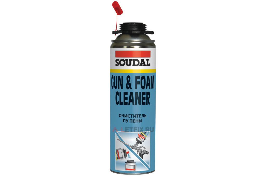 Очиститель монтажной полиуретановой пены Soudal Gun & Foam Cleaner 500 мл (122716)