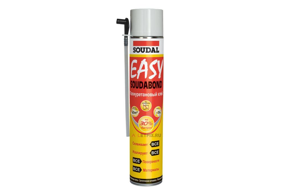 Клей полиуретановый Soudal Soudabond Easy 750 мл (121621) ручной в аэрозоле