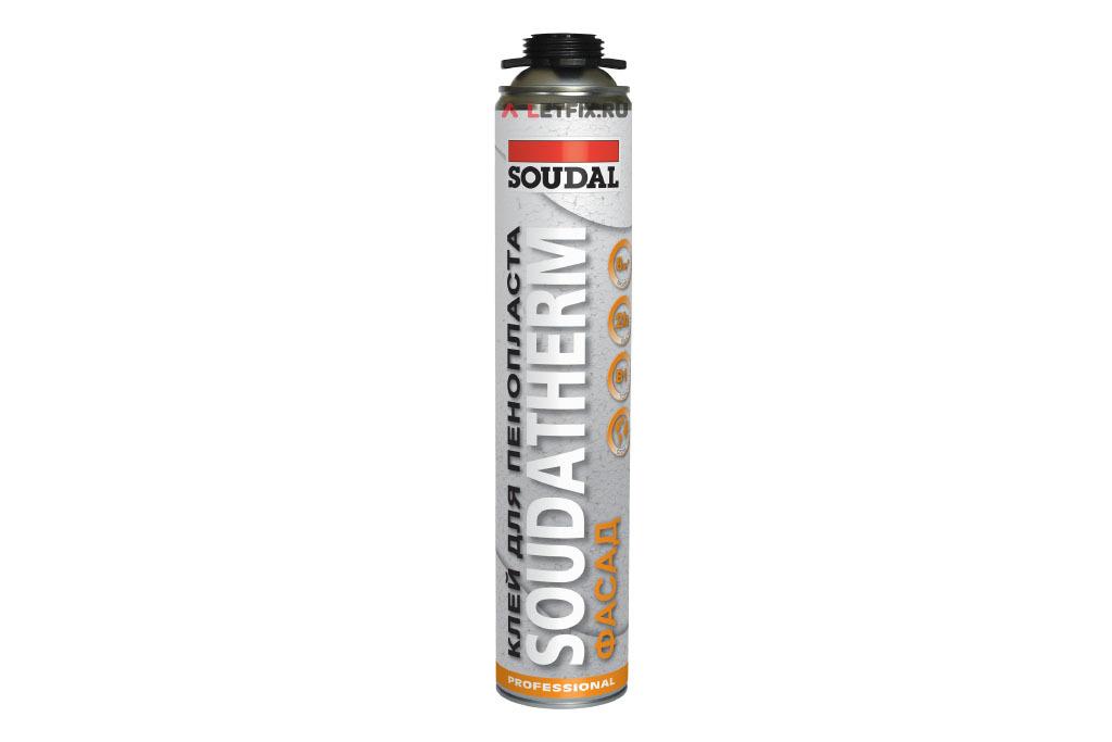 Полиуретановый клей для пенопласта Soudal Soudatherm (Соудал Соудатерм) 750 мл (121106)
