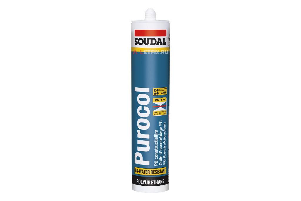 Полиуретановый монтажный клей Soudal Purocol 300 мл (103955)