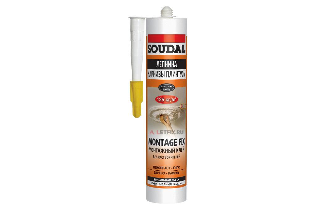 Монтажный клей Soudal 50A Montage Fix 280 мл (120066)