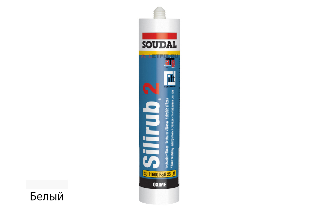 Герметик силиконовый Soudal Silirub 2 белый (102392) 300 мл нейтральный силикон