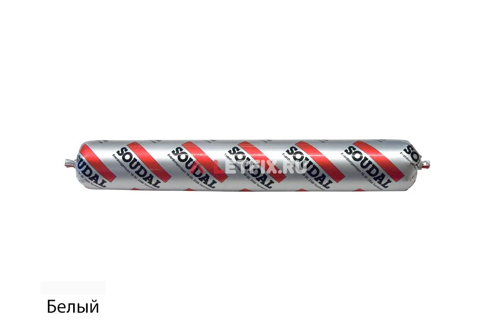 Профессиональный герметик силиконовый Soudal Silirub 2 белый 600 мл 100251 в колбасе