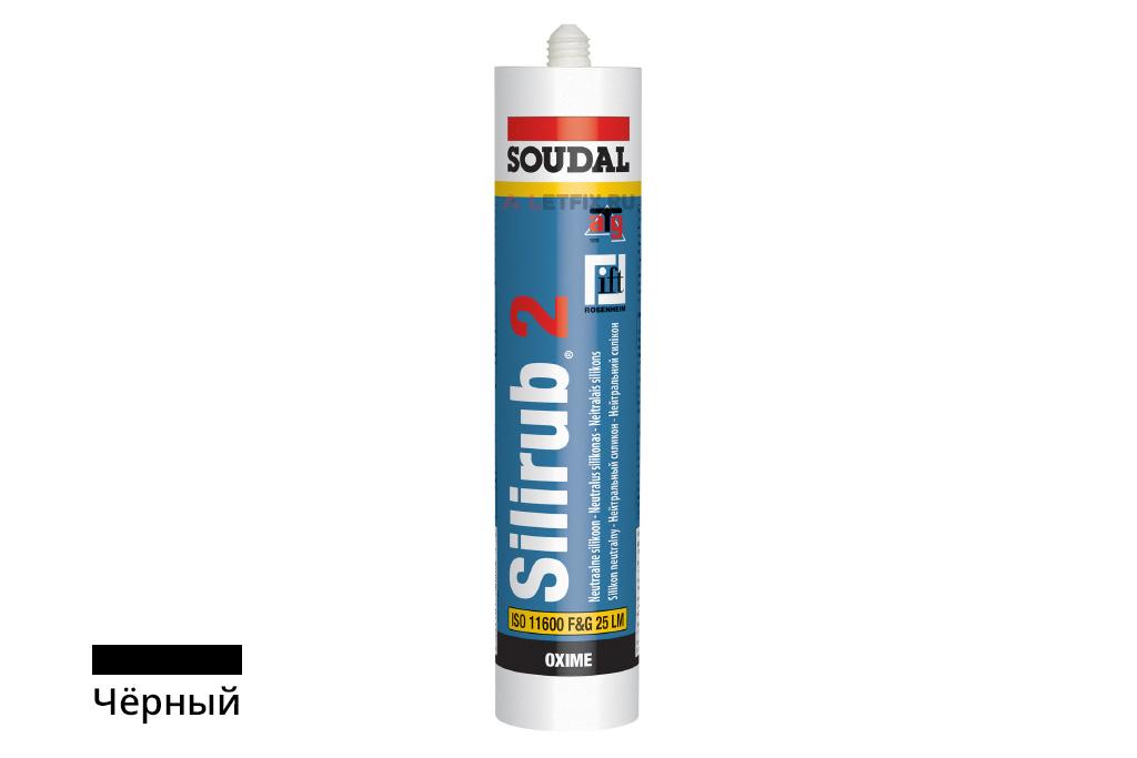 Герметик силиконовый Soudal Silirub 2 чёрный (102393) 300 мл нейтральный силикон