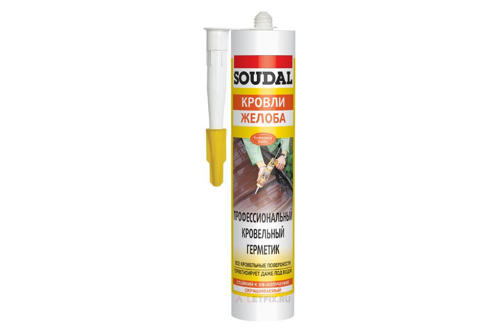 Бесцветный кровельный герметик Soudal Aquafix (122020) 280 мл