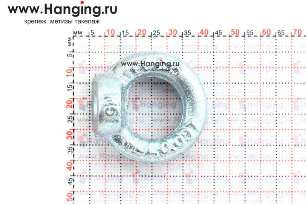 Размеры кольца-проушины и рым-гайки М6