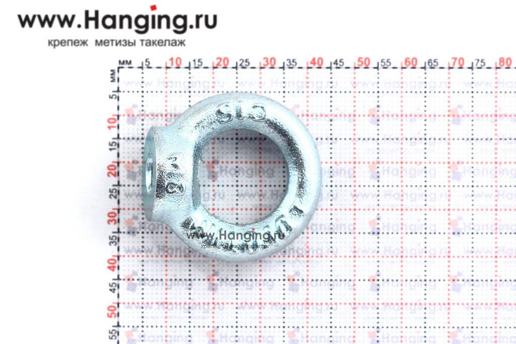 Размеры кольца-проушины и рым-гайки М8