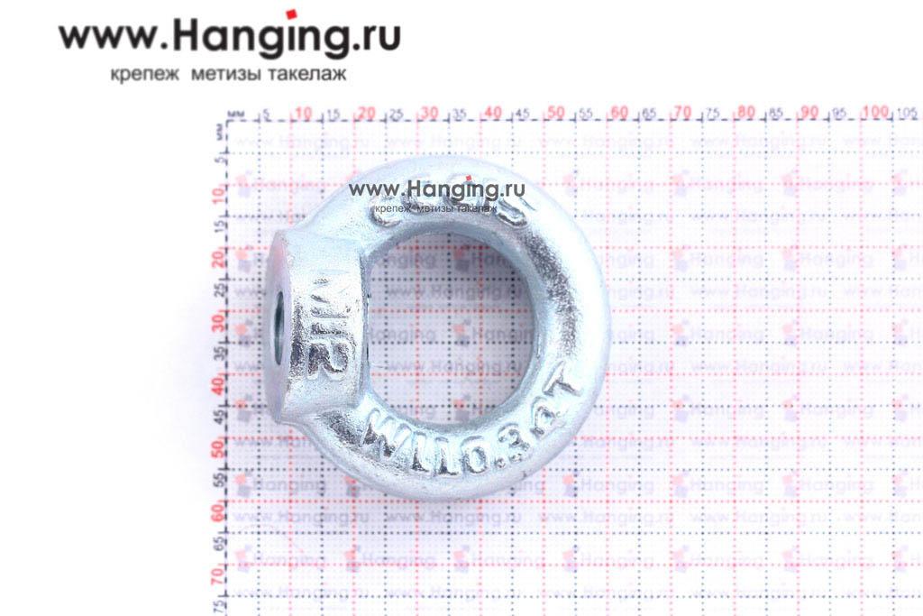Размеры кольца-проушины и рым-гайки М12