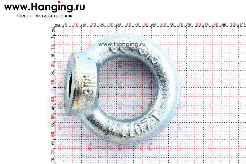 Размеры кольца-проушины и рым-гайки М16