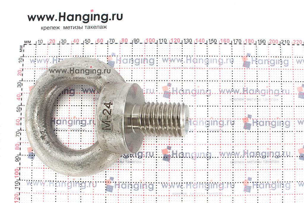 Размеры рым-болта М24 нержавеющего из стали А2 DIN 580