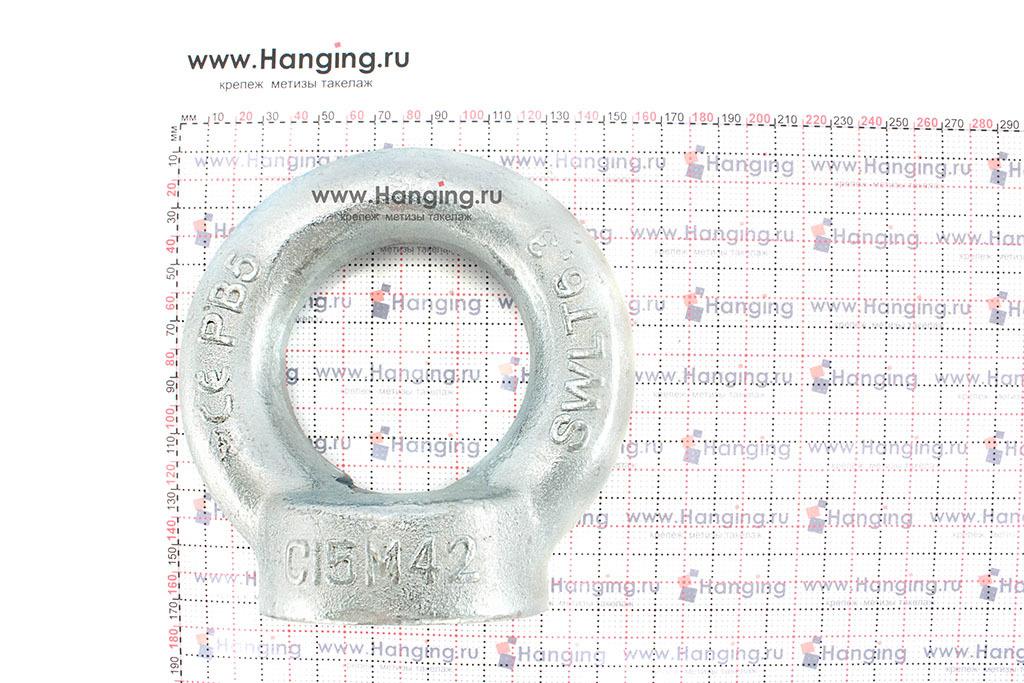 Размеры кольца-проушины и рым-гайки М42