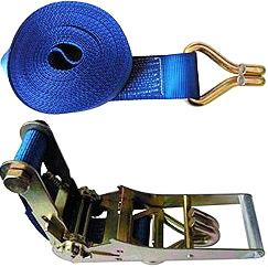 Стяжной ремень шириной 75 мм с двумя крюками