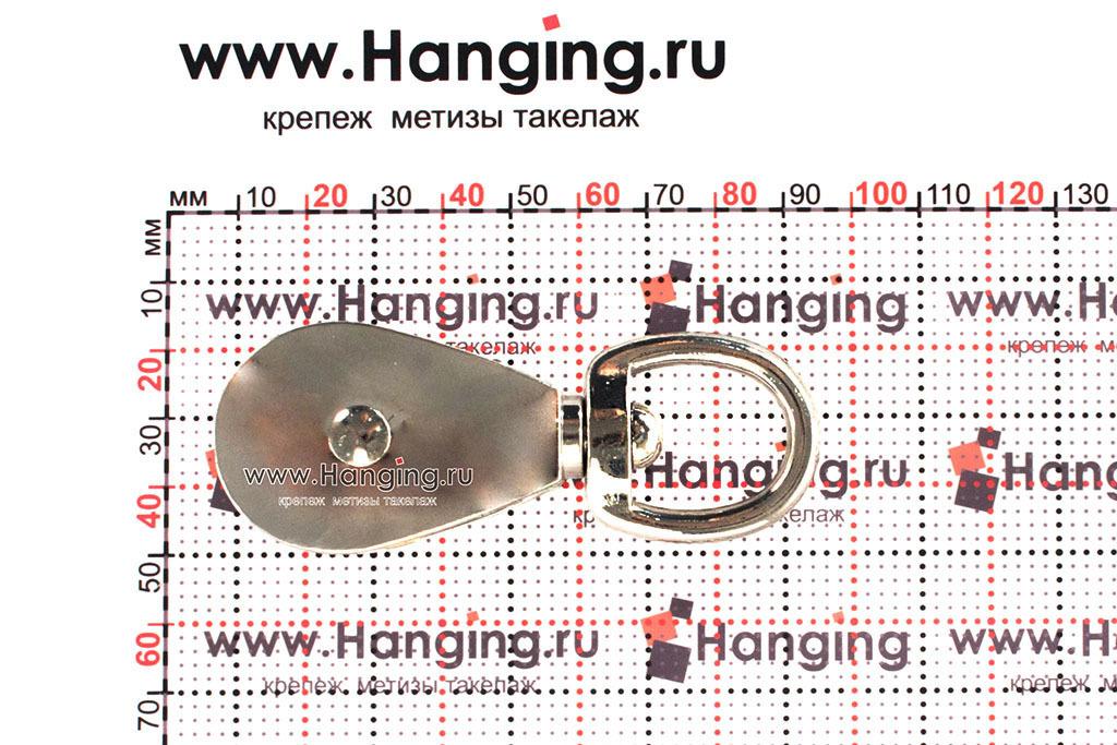 Размеры оцинкованного одинарного блока 15 мм (1/2