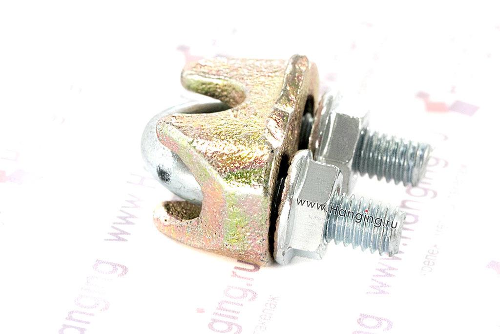 Оцинкованный зажим для стального троса 6 мм