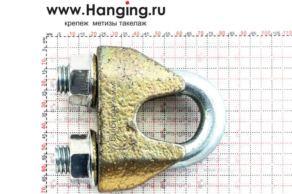 Размеры зажима 19 мм DIN 1142 для стальных канатов и тросов