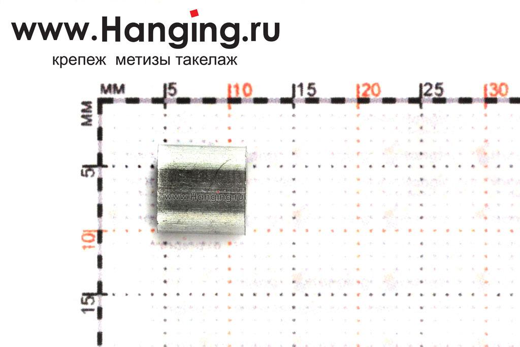 Размеры алюминиевого зажима для стального троса 2 мм