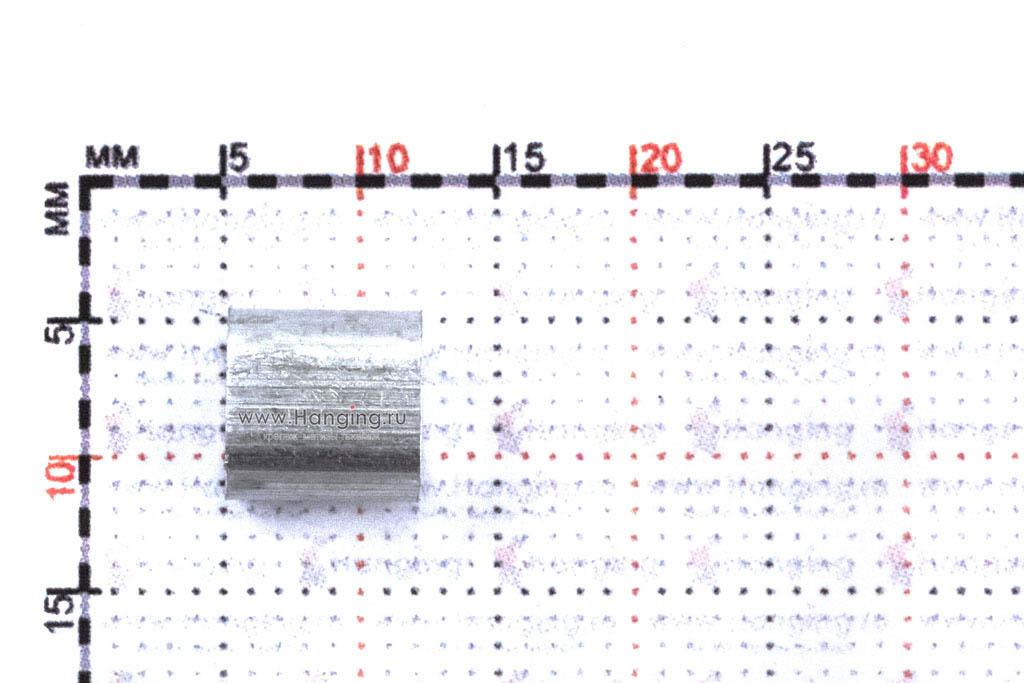 Размеры алюминиевого зажима для стального троса 3 мм
