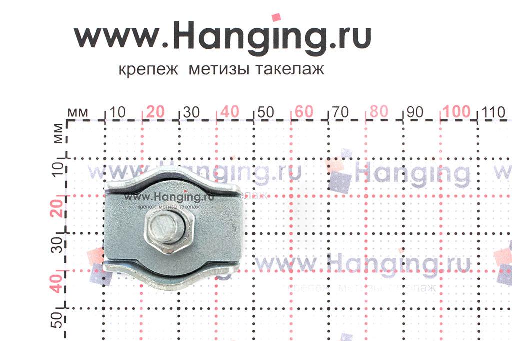 Размеры зажима Simplex 8 мм