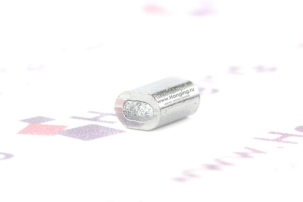 Зажим из алюминия для каната 1 мм
