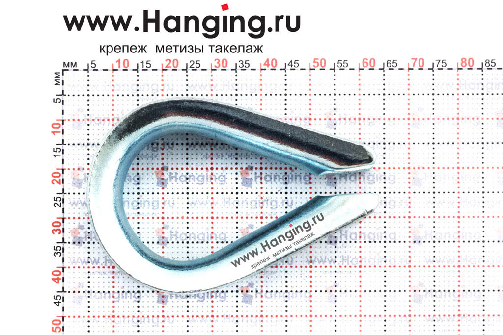 Размеры коуша для стального троса диаметром 11 мм
