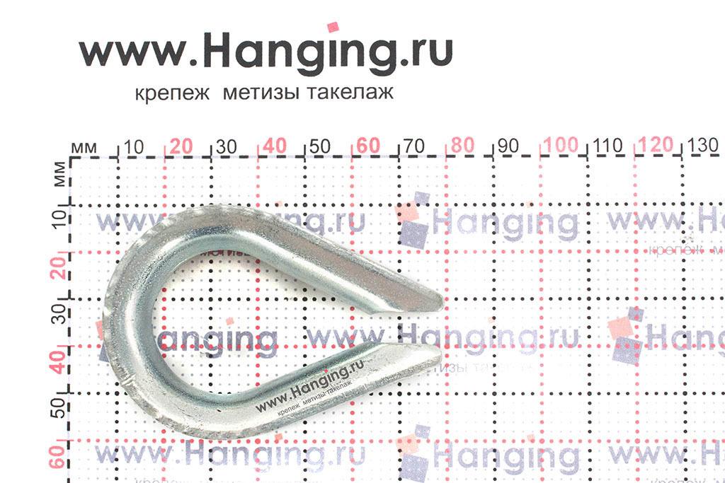 Размеры коуша для стального троса диаметром 13 мм