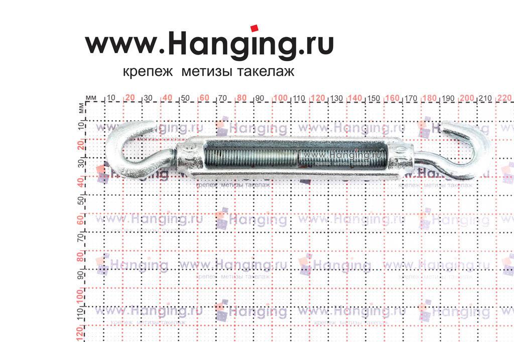 Размеры талрепа М10 крюк-крюк