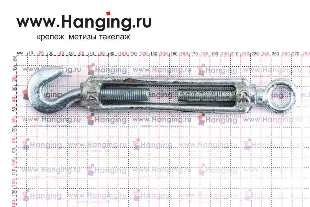Размеры талрепа М14 кольцо-крюк, крюк-петля
