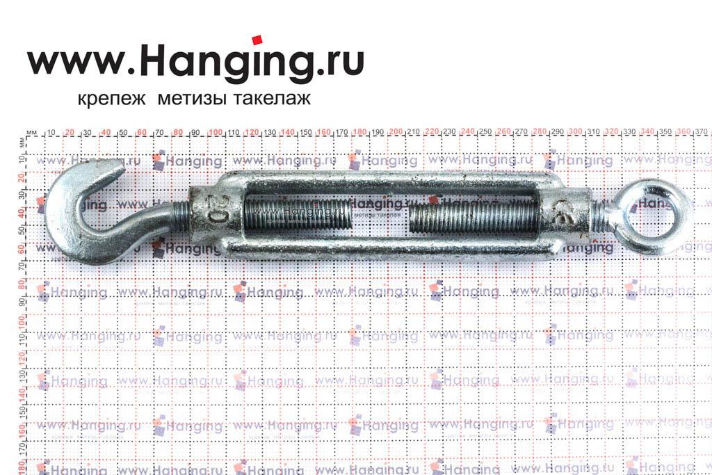 Размеры талрепа М20 кольцо-крюк, крюк-петля