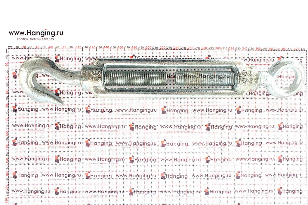 Размеры талрепа М22 кольцо-крюк, крюк-петля