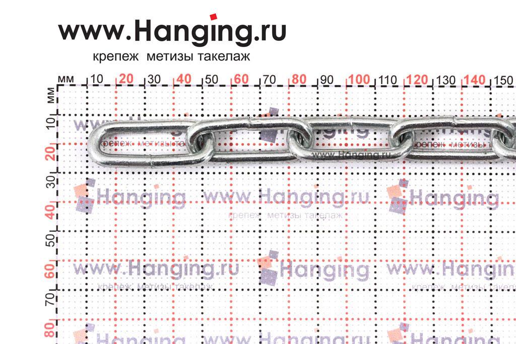 Размеры сварной цепи 5 мм с длинным звеном