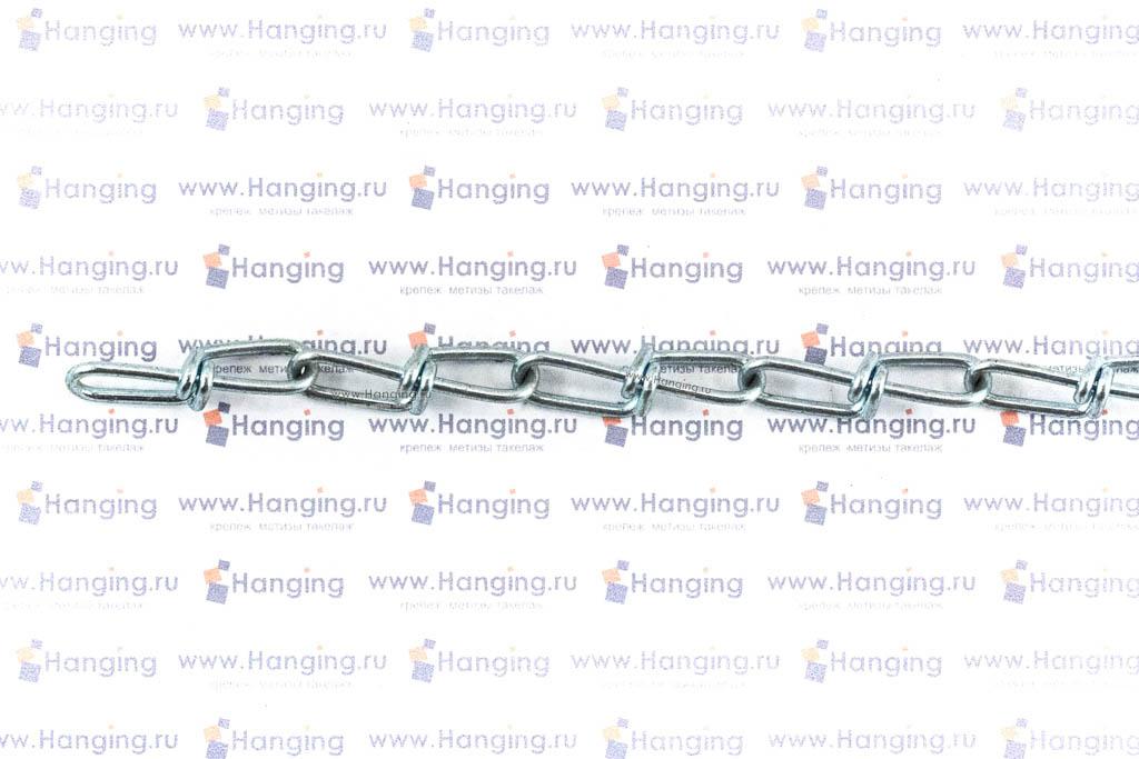 Цепь узловая оцинкованная диаметром 2 мм
