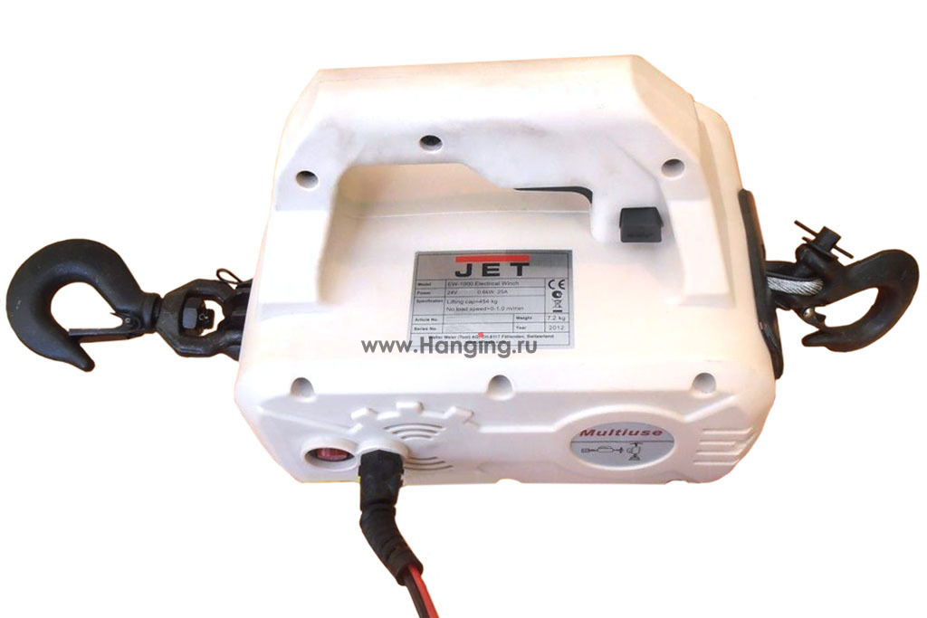Электрическая тяговая автомобильная туристическая лебедка JET EW-1000