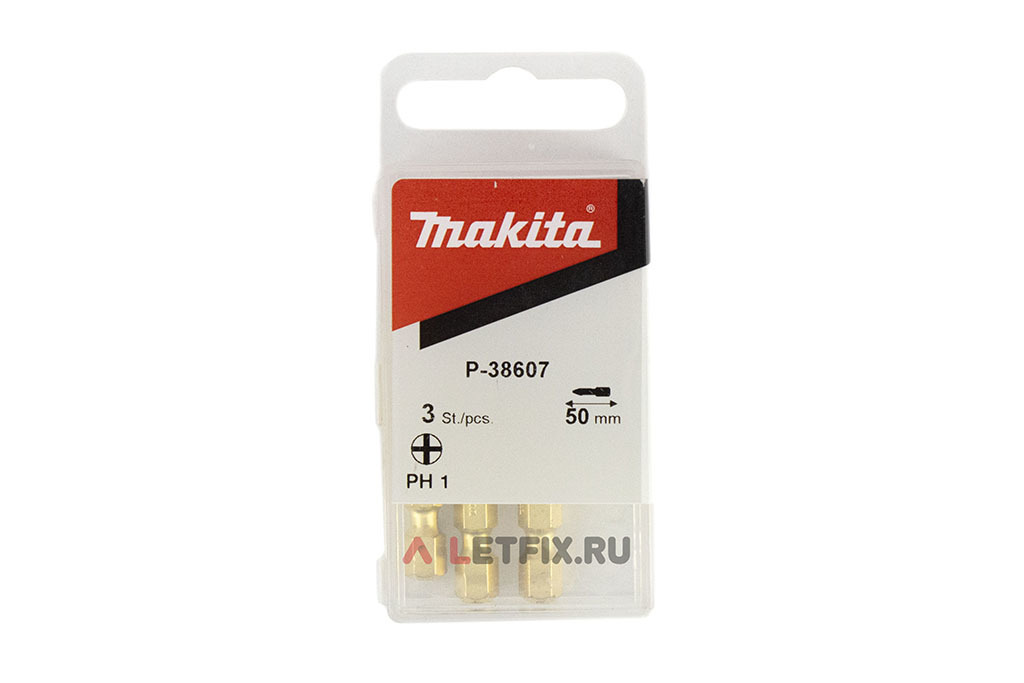 Упаковка алмазных бит PH1*50 мм Makita P-38607