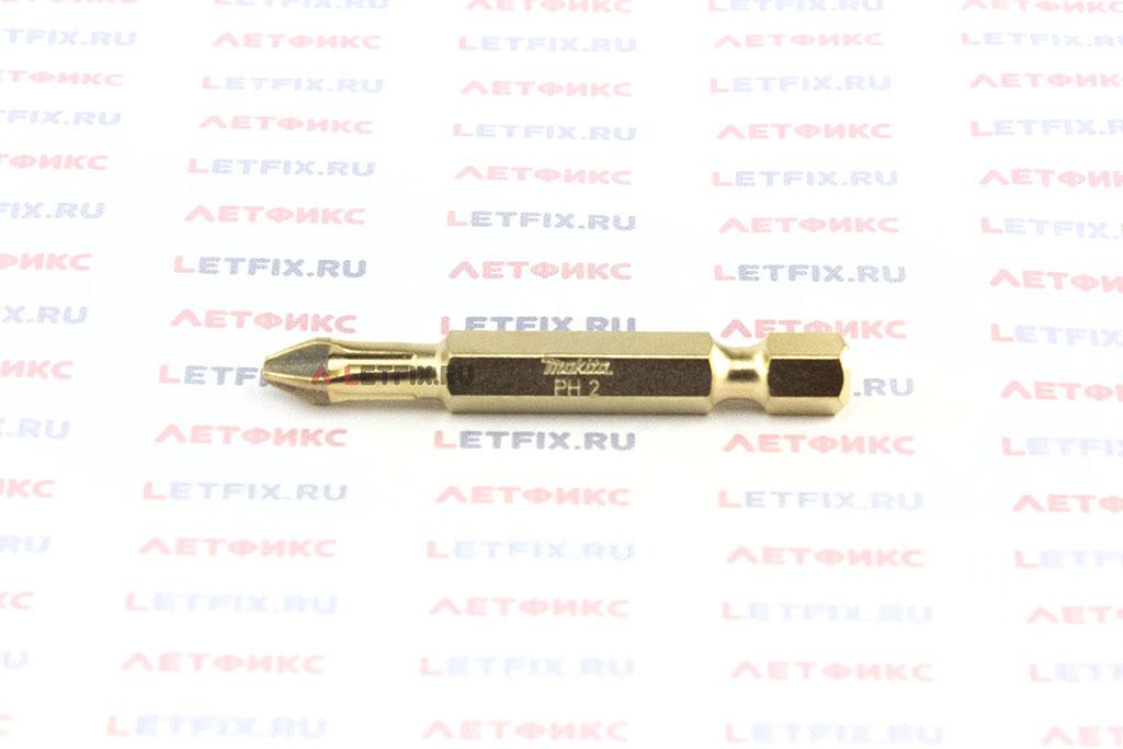 Бита алмазная PH2х50 мм Makita P-38613. Алмазная насадка PH2 длиной 50 мм.