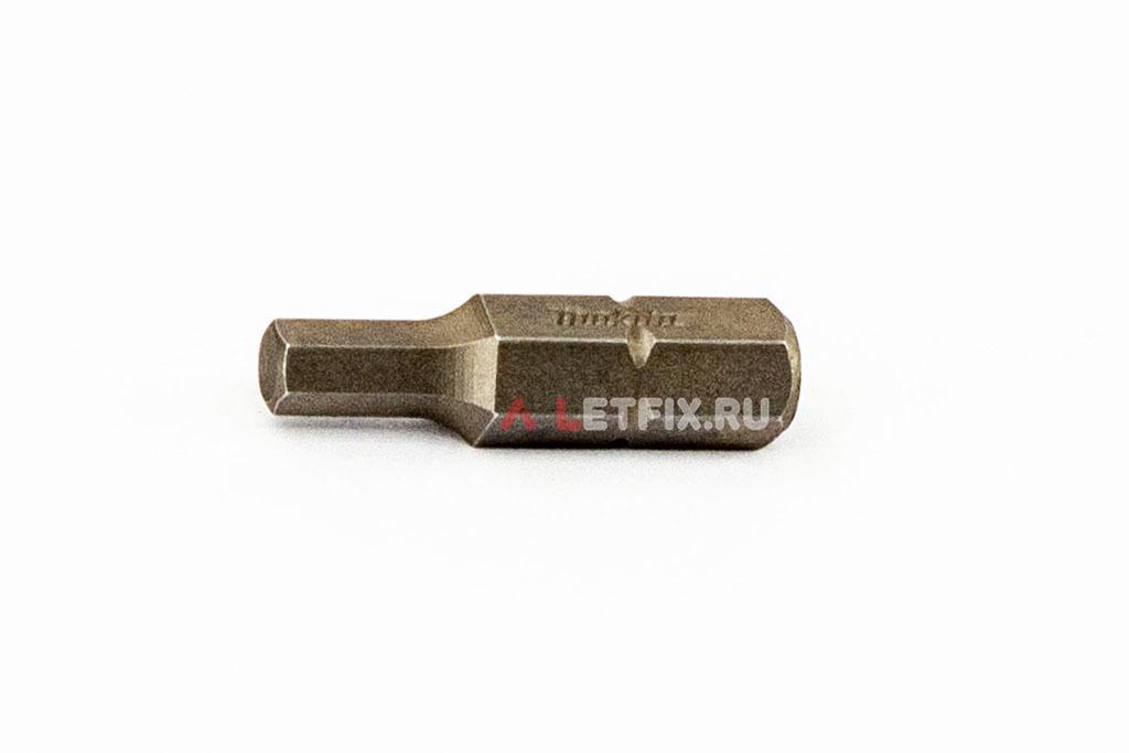 Насадка для шуруповерта (бита) SW 4 25 мм Makita P-21381 для внутреннего шестигранника (Inbus) винтов, шпилек и саморезов