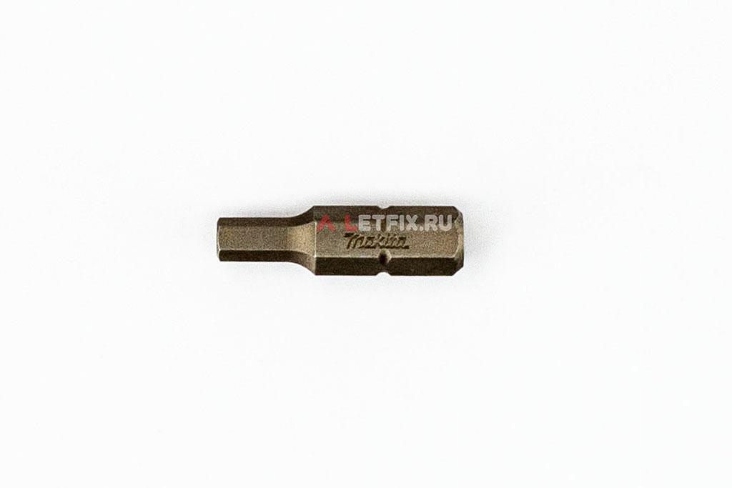 Бита SW4 (Inbus) магнитная длиной 25 мм Makita P-21381