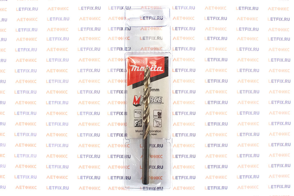 Упаковка сверла Makita M-Force 5х86 D-29670 с ц/х (цилиндрический хвостовик)