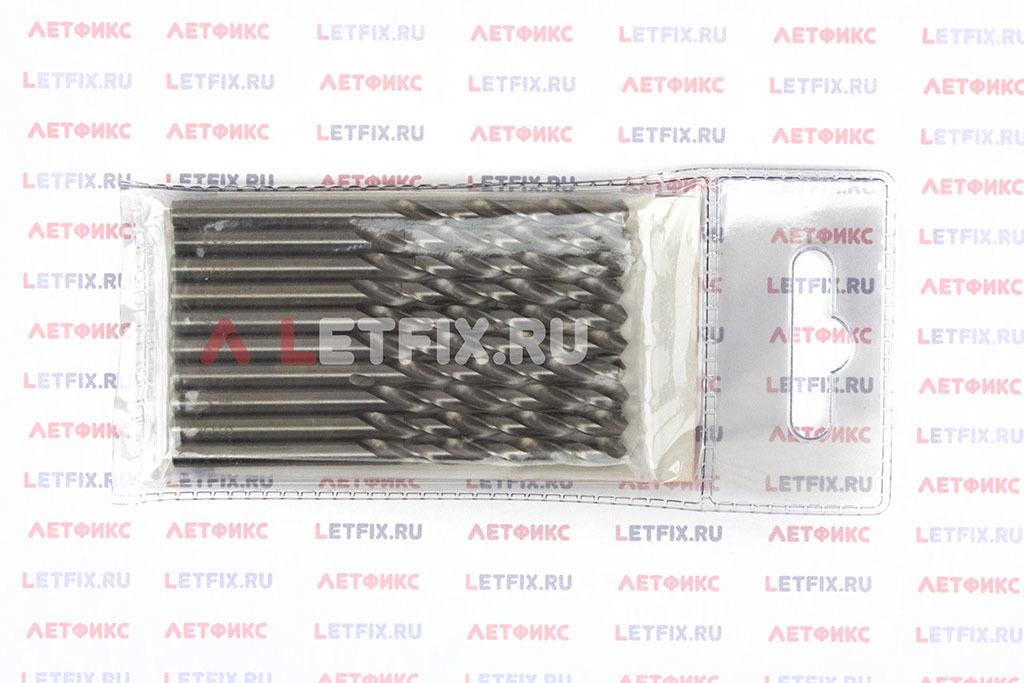 Обратная сторона упаковки свёрл по металлу Makita D-06345 HSS-G 4,25*75 мм
