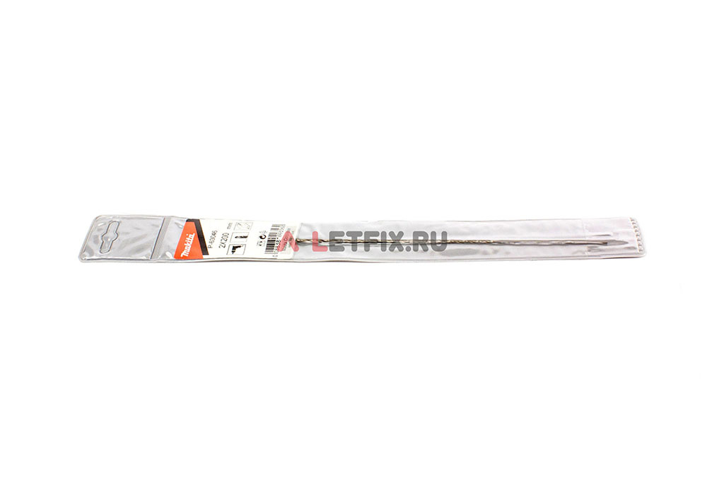 Длинное сверло по металлу Makita HSS-G 2*200 мм с цилиндрическим хвостовиком с углом заточки 118°