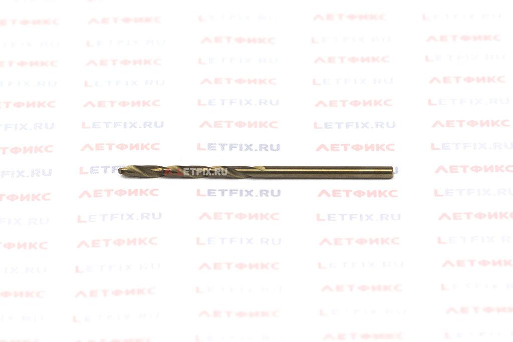 Сверло по металлу Makita HSS-Co 2,5*57 с цилиндрическим хвостовиком по стандарту DIN 338 с углом заточки 135° с 5% содержанием кобальта