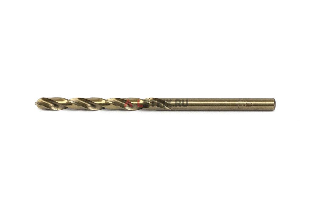 Кобальтовое сверло по металлу Makita HSS-Co 4*75 D-17348 с цилиндрическим хвостовиком (DIN 338)