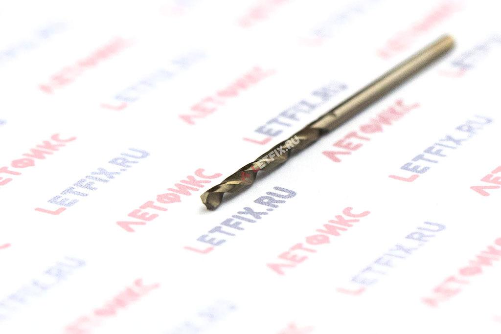 Кобальтовое сверло по металлу Makita HSS-Co 1,75*46 D-17625 с цилиндрическим хвостовиком (DIN 338)