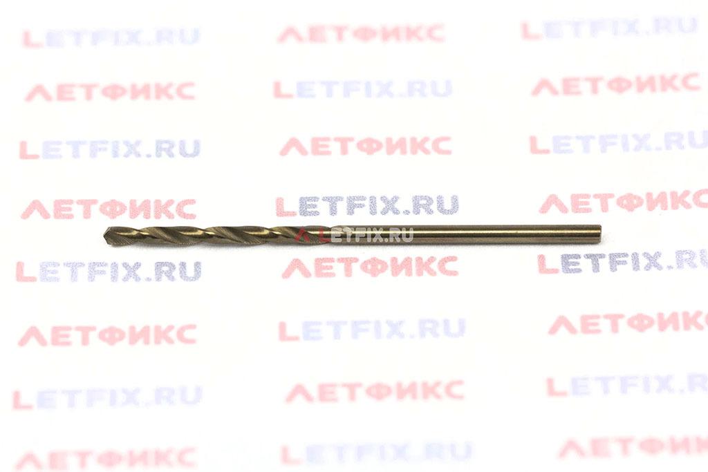 Сверло по металлу Makita HSS-Co 1,75*46 с цилиндрическим хвостовиком по стандарту DIN 338 с углом заточки 135° с 5% содержанием кобальта