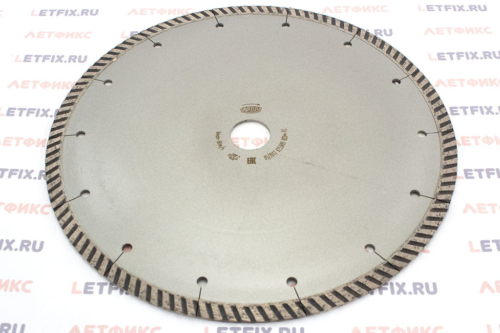 Обратная сторона диска по кирпичу и бетону TYROLIT DCU Standard FC 230*2,4*22,23