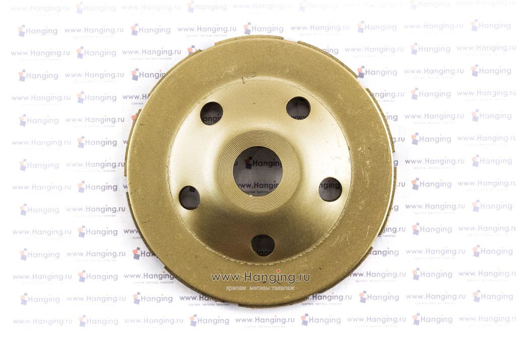 Сторона крепления двухрядной алмазной чашки 125*22 мм