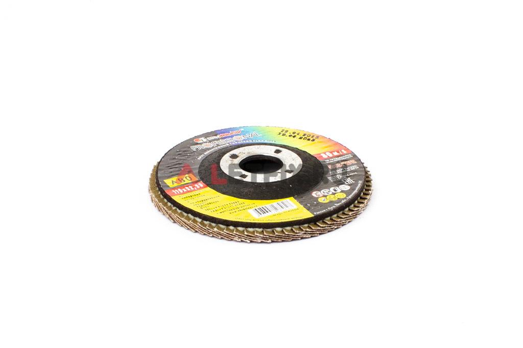 Круг шлифовочный (шлифовальный) лепестковый прямой 115х22,23 мм A80 Луга